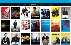 Thumbnails of dozens of TV shows