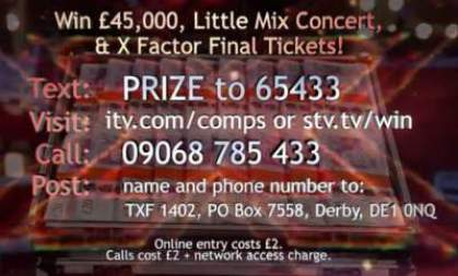 x factor competition £45,000