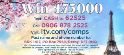 Lorraine Competition £75,000