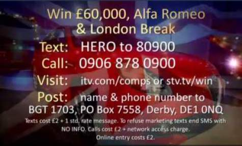 Britain's Got Talent Alfa Romeo Competition