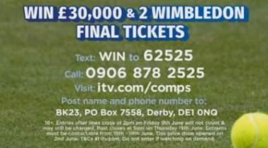 Lorraine Wimbledon Competition