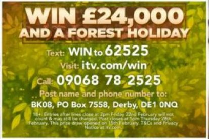 Good Morning Britain Prize Entry £24,000