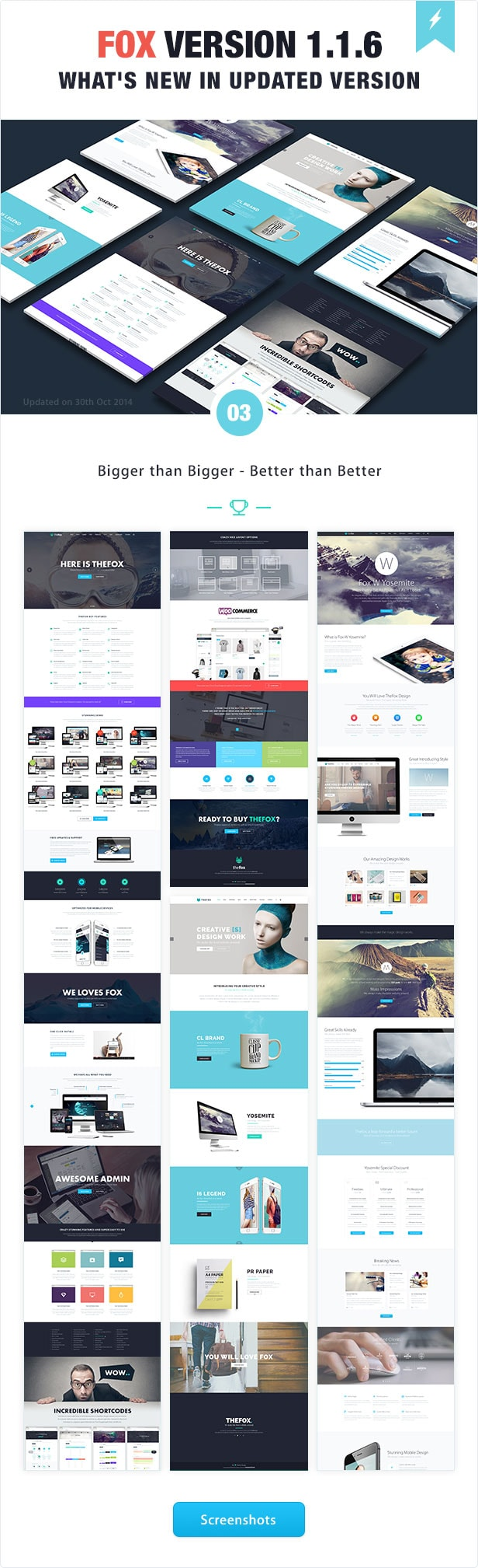 thefox 240 psd template - the best on Envato Market - Themeforest's trending theme