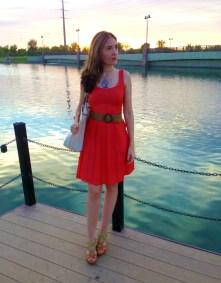 Coral Dress 2