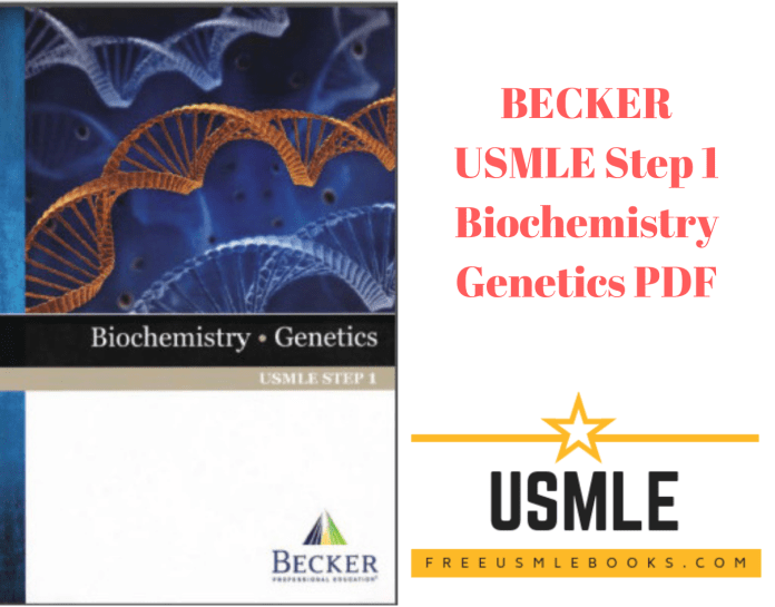 Download BECKER USMLE Step 1 Biochemistry Genetics PDF Free