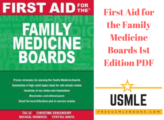 Download First Aid for the Family Medicine Boards 1st Edition PDF Free