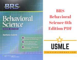 Download BRS Behavioral Science 6th Edition PDF Free