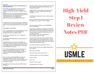 Download High-Yield Step 1 Review Notes PDF Free