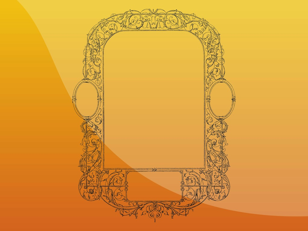 Antique Mirror Frame Vector Art & Graphics