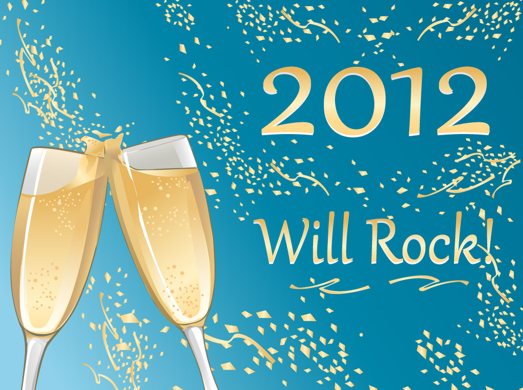 Champagne New Year Vector Art & Graphics