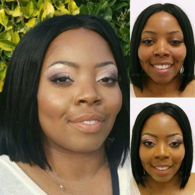 Those cheebones are popping and Leana's client looks gorgeous! (Photo by Leana Washington)