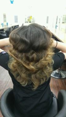 Beautiful curly locks Leana created. (Photo by Leana Washington)