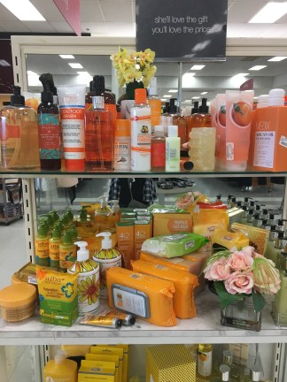 You can tell the employees take time to make sections of the store look appealing. I like how the section shows a range of orange colors. (Photo by Kristin Guglietti)