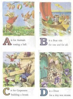 vintage animal school cards 1