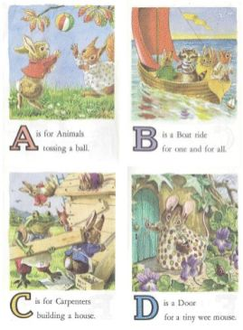 vintage animal school cards 1
