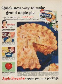 Vintage advertisement selling pie crust.