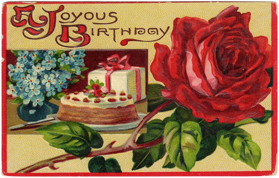 Lovely Vintage Birthday Card