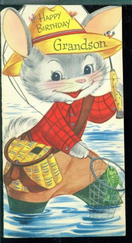A charming free vintage mouse birthday card