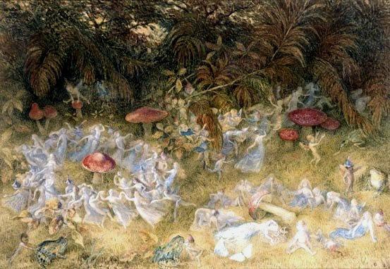 a vintage fairy wonderland. public domain image