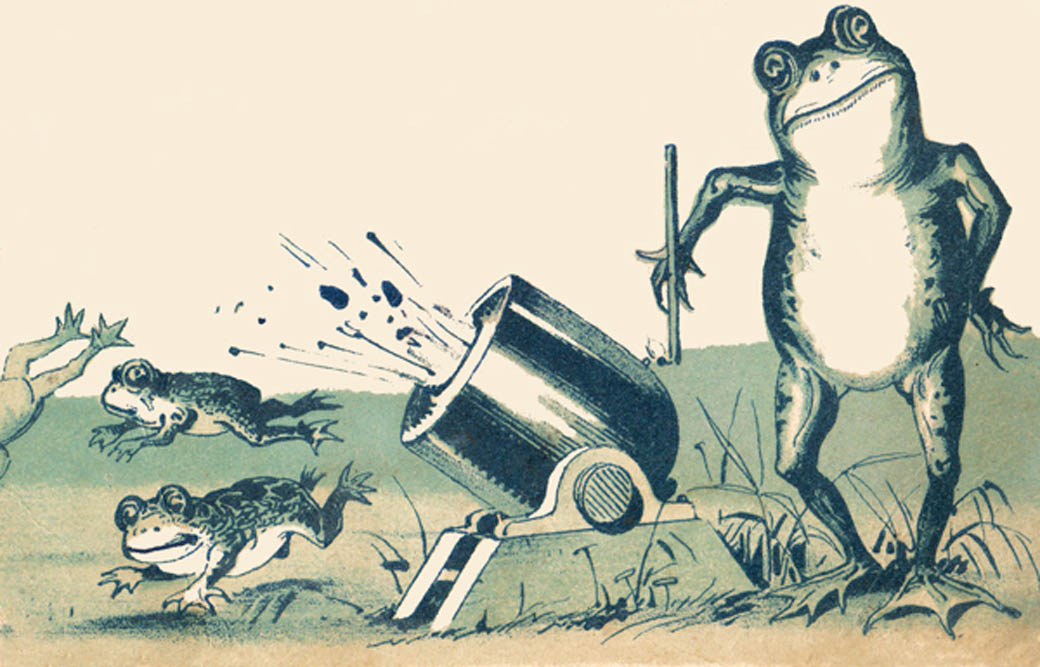 Frogs and cannons