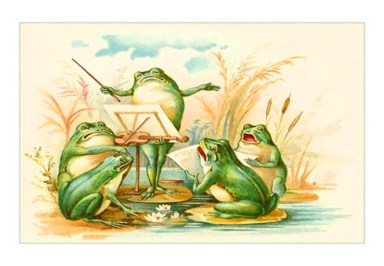 public domain frog illustration 2