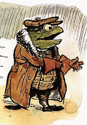 Antique storybook frog illustration