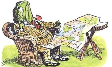 A classic public domain illustration from the wind in the willows