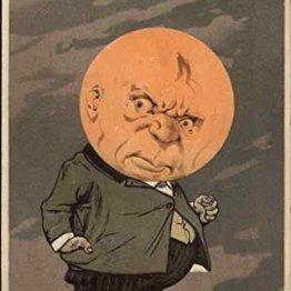 vintage grumpy moon