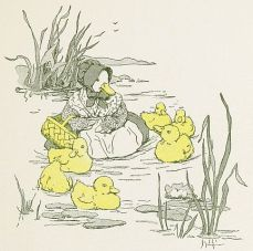 fpublic domain illustration of ducklings from vintage childrens book 3