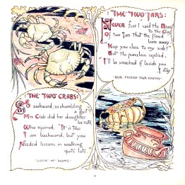 public domain aesop crab illustration from vintage childrens books