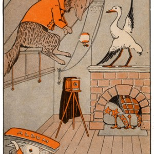 Public Domain vintage illustrations from a David Cory Childrens book, Billy Bunny and Daddy Fox