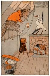 public domain vintage childrens book illustration billy bunny daddy fox 1 hugh spencer