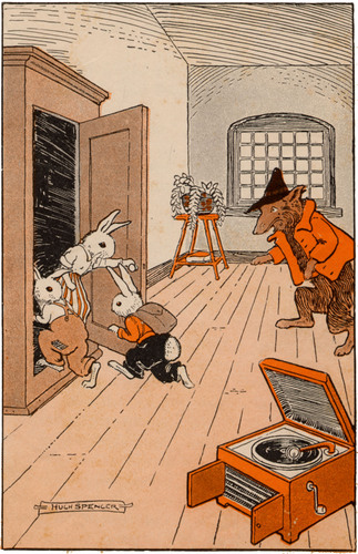 A public domain vintage illustration from the David Cory classic Childrens book, Billy Bunny