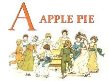 public domain vintage childrens book illustrations kate greenaway apple pie 1