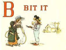 public domain vintage childrens book illustrations kate greenaway apple pie b