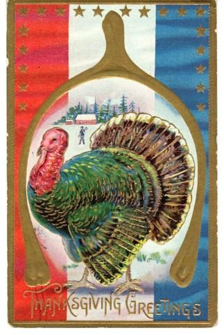 antique thanksgiving postcard public domain image