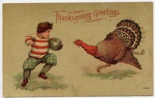 public domain color vintage thanksgiving greeting 6