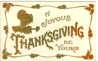 public domain color vintage thanksgiving greeting 8