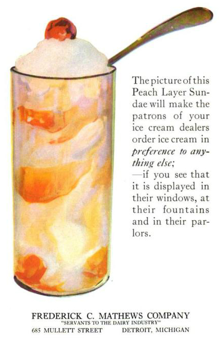 A free vintage illustration of an ice cream float from antique trade journal ad