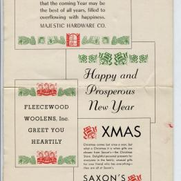 Free public domain vintage Christmas Graphics and Typography from 1940s