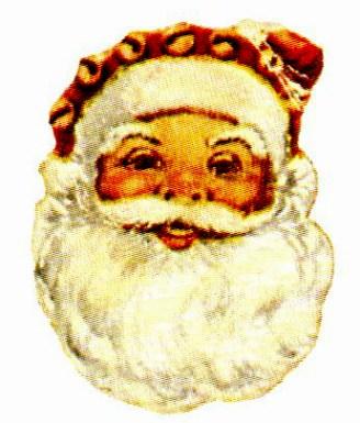 Free vintage illustration of classic santa claus face
