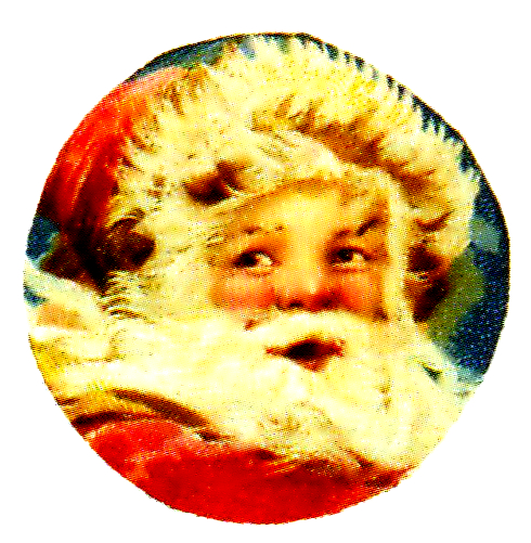 free vintage illustration of classic santa claus face