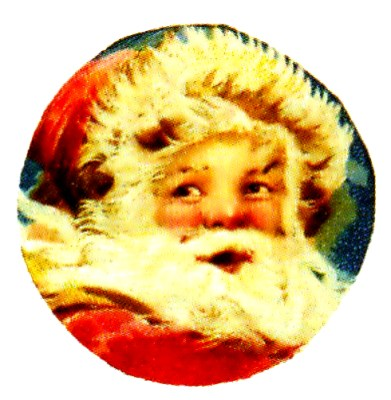 free vintage santa cause face illustration
