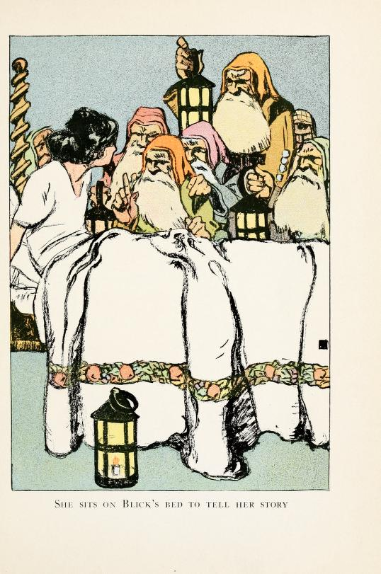 A free vintage book illustration from a 1913 version of Snow White in the public domain