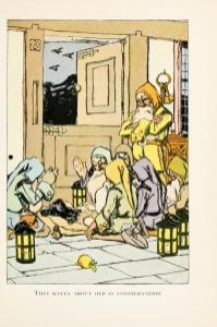 vintage public domain book illustration snow white and the 7 dwarves image 4