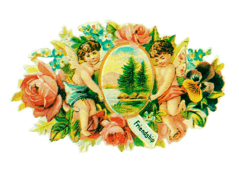 This is a free vintage valentine's day image from the Victorian Era. You are free to use this image in your personal and commercial projects without permission. A link back to FreeVintageIllustrations is required if you're sharing this image online.