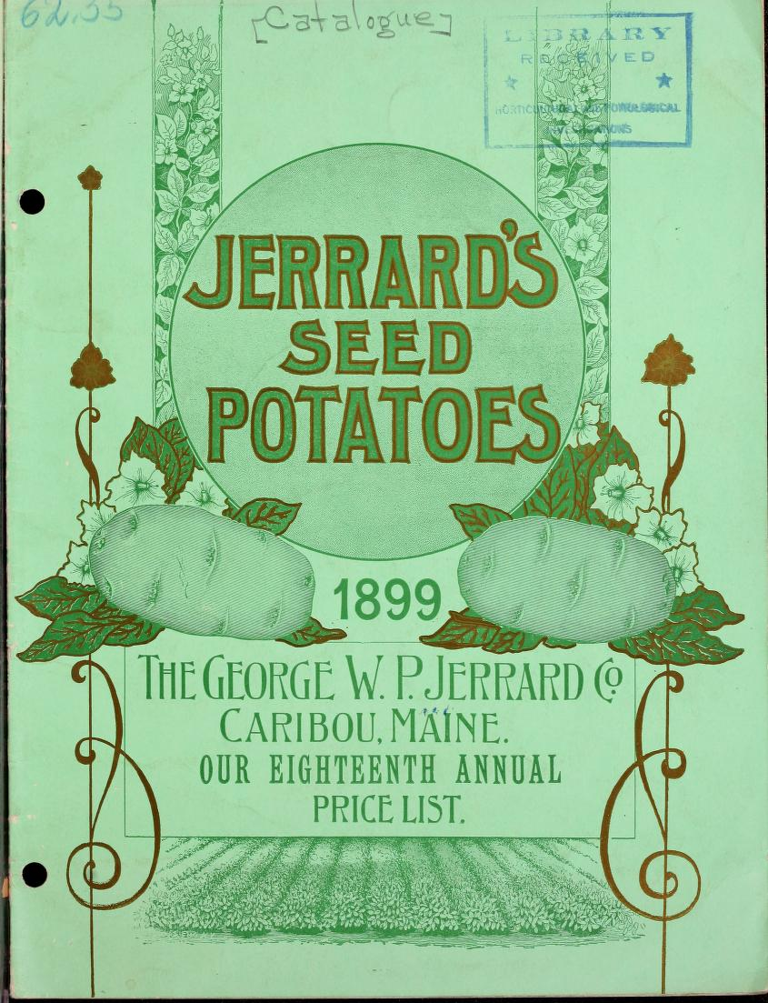 This is a free vintage produce publication cover for potatos