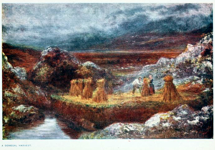 This is a free vintage color illustration of early 20th century Ireland from a 1911 vintage travel book