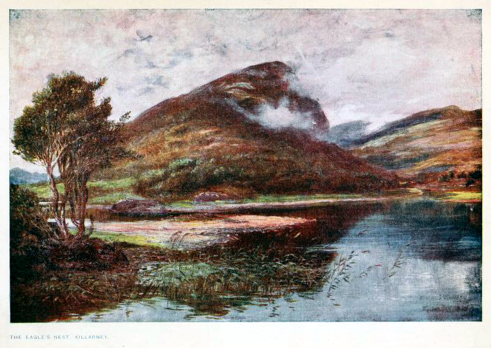 This is a free vintage color illustration of early 20th century ireland