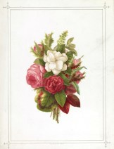 vintage public domain pink white roses card for mothers day
